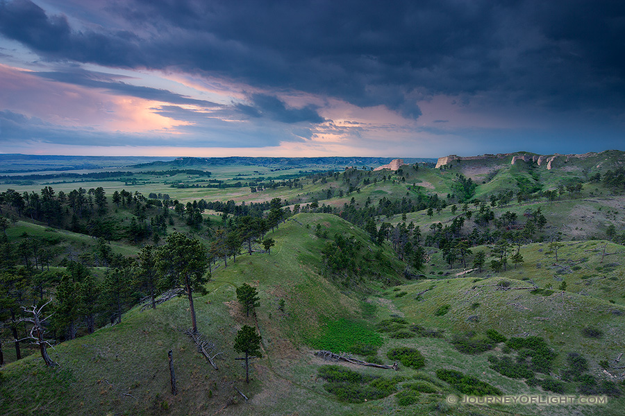 Clouds form in the evening over Ft. Robinson State Park in northwestern Nebraska.  Originally, a U.S. Army fort it has a checkered history in regards to the conflicts with Native Americans in the late 1800s. - Nebraska Photography