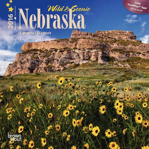 2016 Nebraska Mini Calendar by Brown Trout.  Sold in Amazon, Retail Stores, and Calendar Club.  Contributed 2 Photographs Including Cover. -  Picture